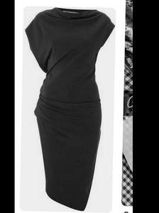 All Saints Gray Asymmetrical Dress 6